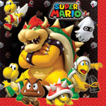 "6.5"" Super Mario Lunch Napkins - Pack of 16"