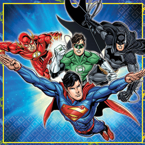 "6.5"" Justice League Lunch Napkins - Pack of 16"