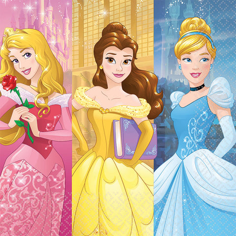 "6.5"" Disney Princess Lunch Napkins - Pack of 16"