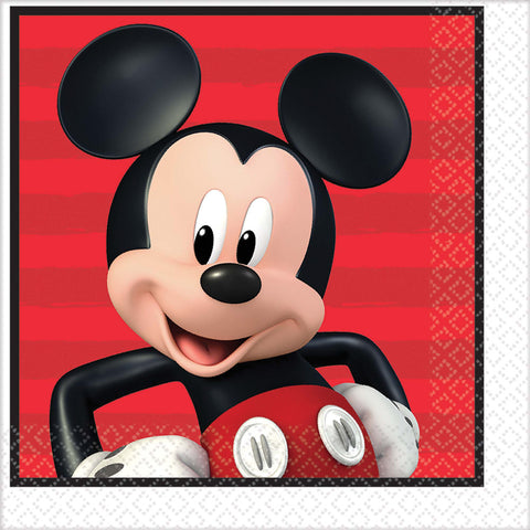 "6.5"" Disney Mickey Lunch Napkin - Pack of 16"