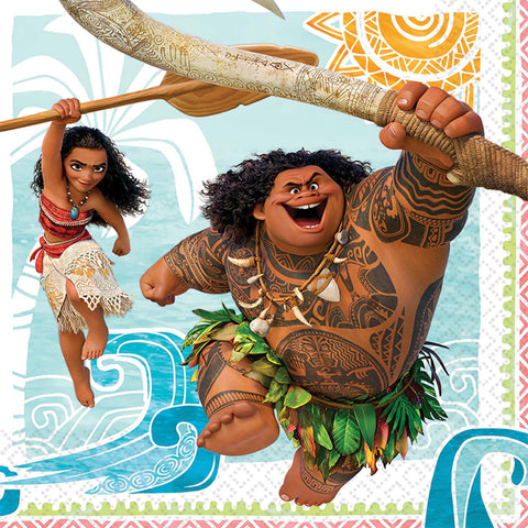"6.5"" Moana Lunch Napkins - Pack of 16"
