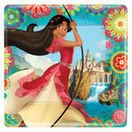 "9"" Elena Of Avalor Square Plates - Pack of 8"