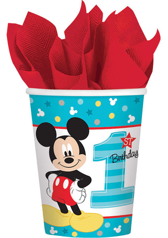 9oz Mickey 1st Cups - Pack of 8