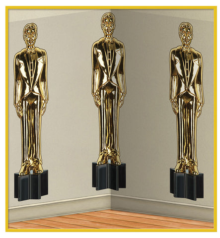 4' x 30' Awards Night Male Statute Scene Setter