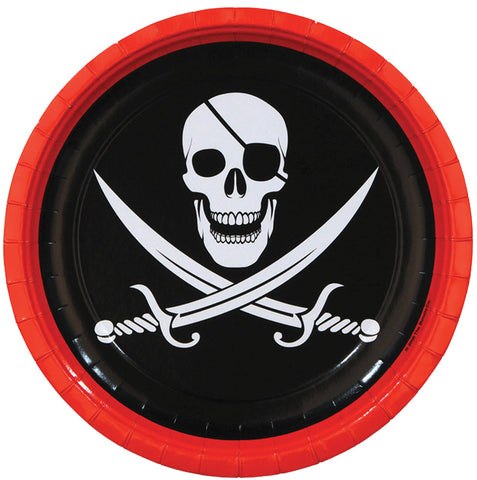 "9"" Pirate Plates - Pack of 8"