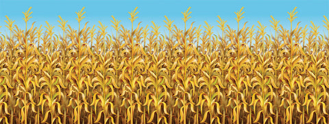 4' X 30' Cornstalks Backdrop