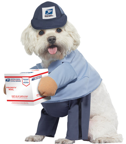 US Mail Carrier Dog Costume