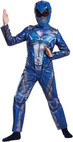 Boy's Blue Ranger Classic Costume - Power Rangers Movie 2017