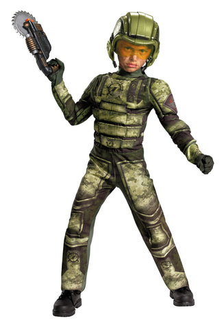 Boy's Foot Soldier Muscle Costume - Operation Rapid Strike