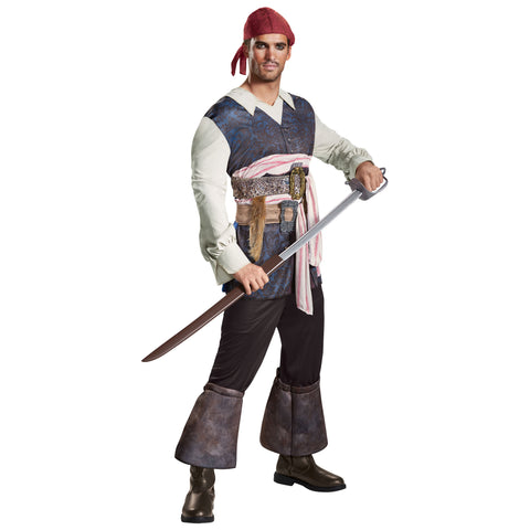 Men's Captain Jack Classic Costume - Pirates Of The Caribbean 5