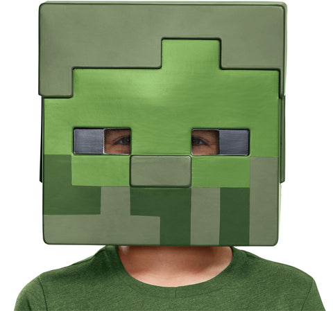 Child's Zombie Half Mask - Minecraft