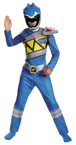 Boy's Blue Ranger Classic Costume - Dino Charge