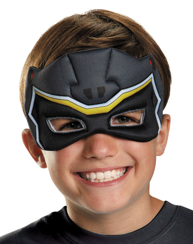 Child's Black Ranger Puffy Mask - Dino Charge