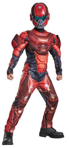 Boy's Red Spartan Classic Muscle Costume - Halo