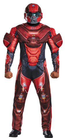 Men's Red Spartan Muscle Costume - Halo