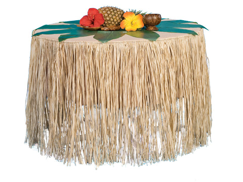 "9' x 28"" Tropical Raffia Grass Table Skirting"