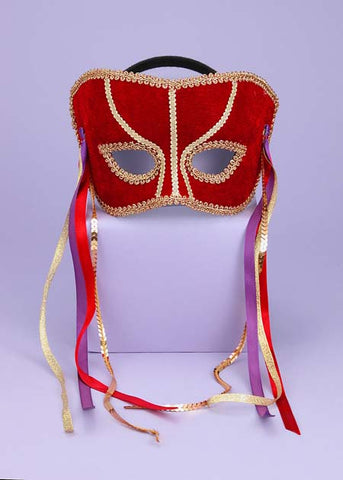 Women's Venetian Mask with Gold Trim