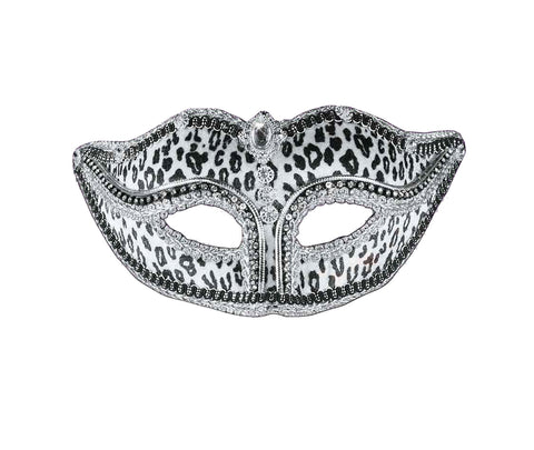 Women's Snow Leopard Venetian Mask