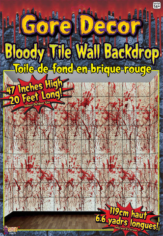 20' x 4' Bloody Tile Wall Roll