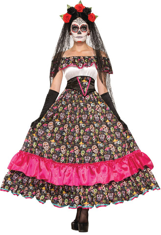 Women's Day of Dead Spanish Costume