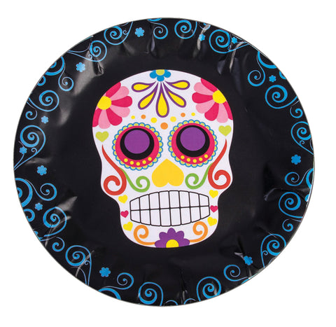 "9"" Day of the Dead Round Plate - Pack of 8"
