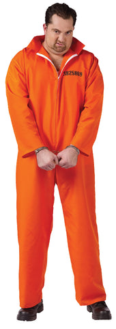 Men's Plus Size Got Busted Orange Jumpsuit