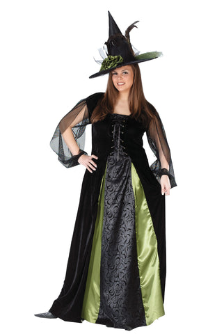 Women's Plus Size Witch Goth Maiden Costume
