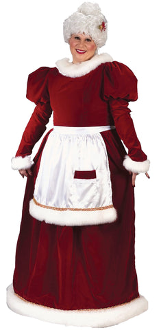 Women's Plus Size Velvet Mrs. Claus Costume
