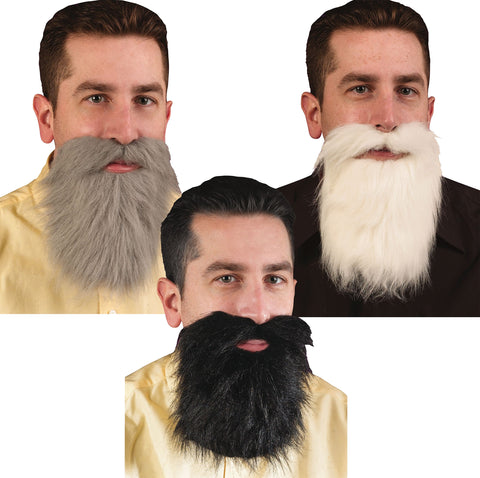 Assorted Mustaches & Beards - Pack of 24