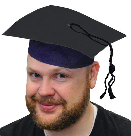 Black Cardboard Graduate Cap with Tassel