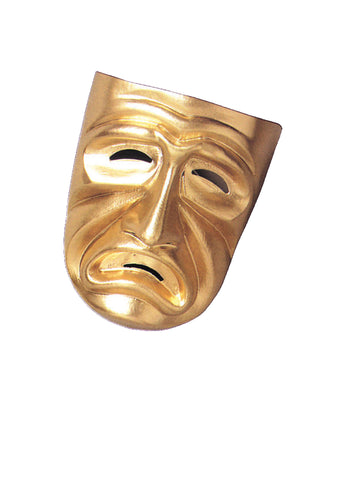 Gold Tragedy Mask