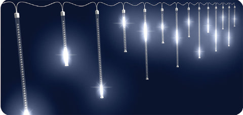 128-Count Shooting Star Icicle LED Lights