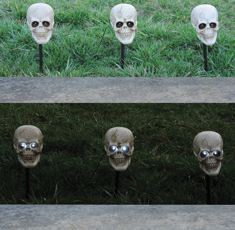 Skull Lighted Pathway Markers