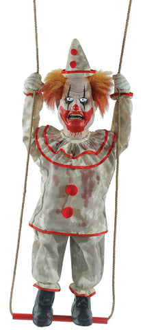 Animated Swinging Happy Clown Doll