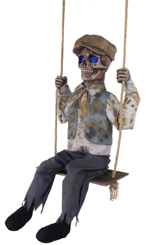 Swinging Skeletal Boy