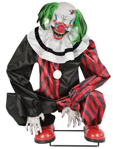 Animated Crouching Clown Red