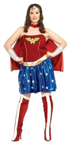 Women's Plus Size Deluxe Wonder Woman Costume