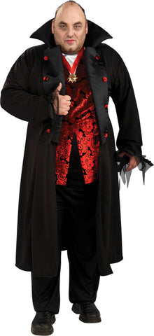 Men's Plus Size Deluxe Royal Vampire Costume