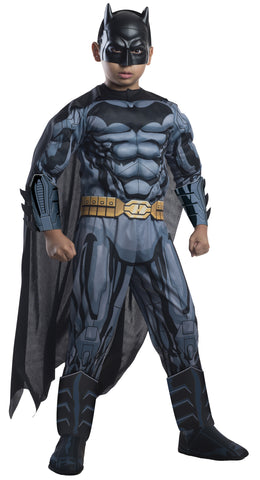Boy's Deluxe Photo-Real Muscle Chest Batman Costume