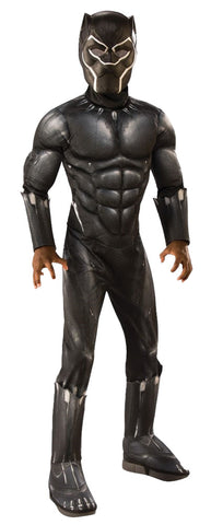 Boy's Deluxe Muscle Black Panther Costume