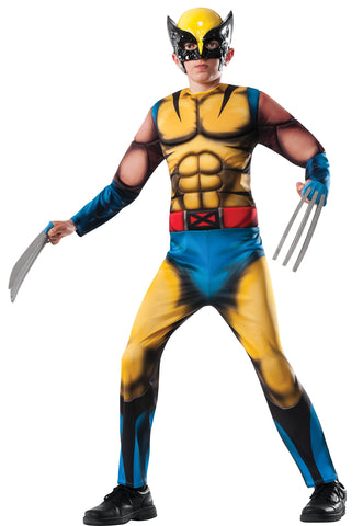 Boy's Deluxe Muscle Chest Wolverine Costume