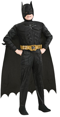 Boy's Deluxe Muscle Batman Costume - The Dark Knight Rises
