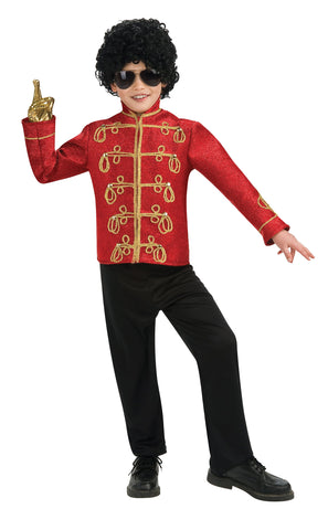 Boy's Deluxe Red Military Michael Jackson Jacket
