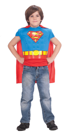 Superman Muscle T-Shirt with Cape