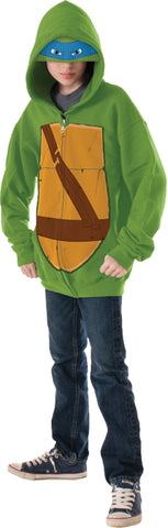 Boy's Leonardo Hoodie Costume - Ninja Turtles