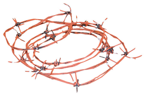 97.5' Rusted Barbed Wire