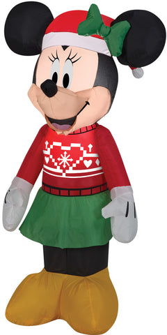 Airblown Minnie In Ugly Sweater