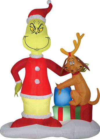 GRINCH AND MAX W PRESENT AIRBL