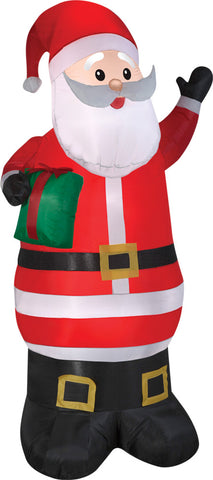 Airblown Santa with Present Inflatable