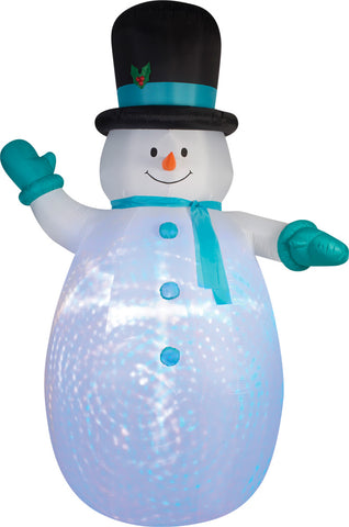 Airblown Snowman Swirl Projection Inflatable
